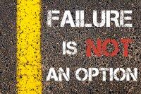 ビジネス英語の上達:【失敗できない】Failure to do ~ is not an option.