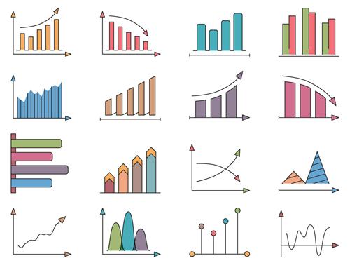 折れ線グラフなどで、変化や推移を表す英語表現