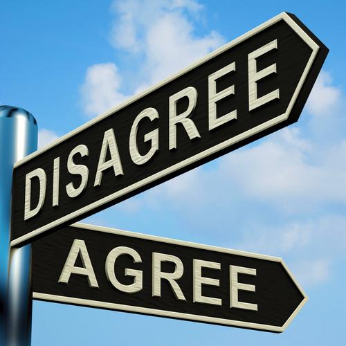 反対意見同士で、合意できなかった時の英語表現