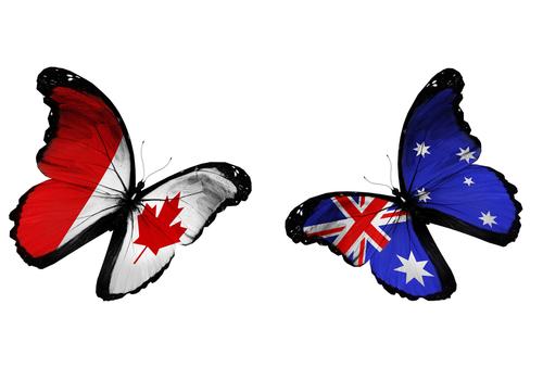 カナダとオーストラリア